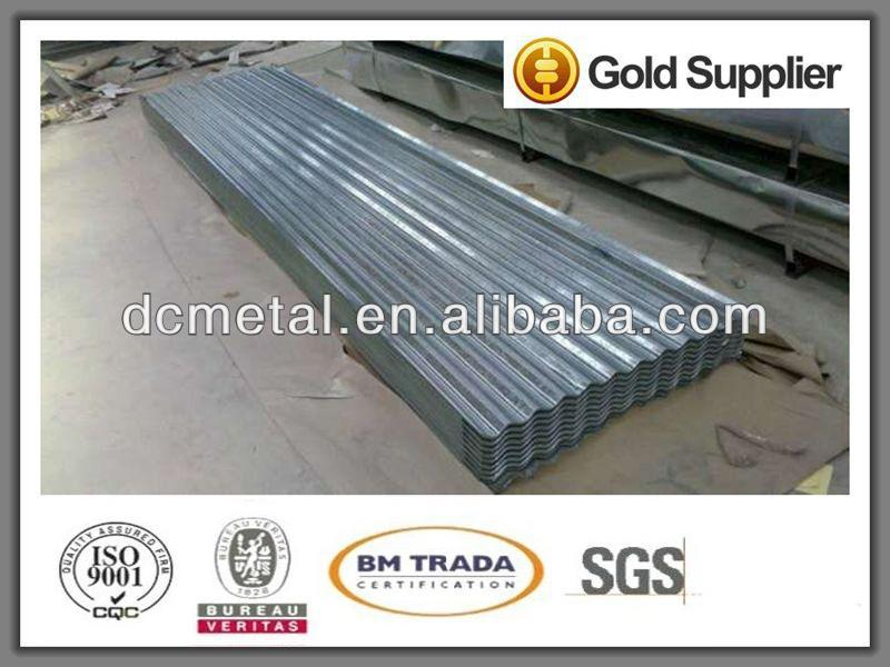a lot of corrugated aluminum sheet metal for construction