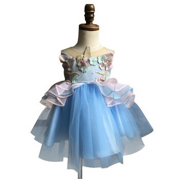 fb04d4946 Summer Baby Girl Tutu Dress Organza Sleeveless Dress Unicorn Outfits Lace  Party Birthday Dress Clothes - Buy Pet Party Clothes,Kids Party ...