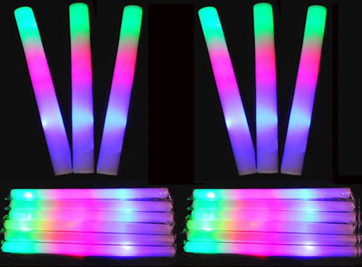 Wholesale custom concert light sticks do led colorful glow sponge stick foam stick