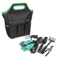 Heavy Duty Multi Pockets Garden Hand Tool Set Bag, Tools Can Be Included