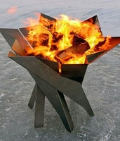 factory cheap large corten steel wood burning metal bowl outdoor fire pit