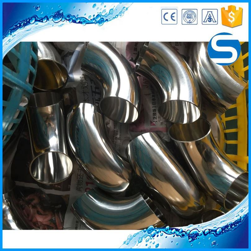 316 Welded Pipe Fittings Stainless Steel Sanitary Elbow Union Tee Type