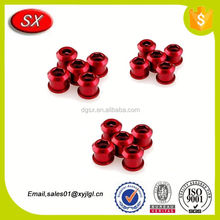 custom Aluminum color Chainring Bolts bicycle bolts fasteners