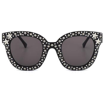 Women Rhinestone Sunglasses Women Italy Brand Designer Cat Eye Full Star  Eyeglasses Frame Mirror Sun Glasses - Buy Cat Eye Sunglasses,Eyewear Carbon  ...