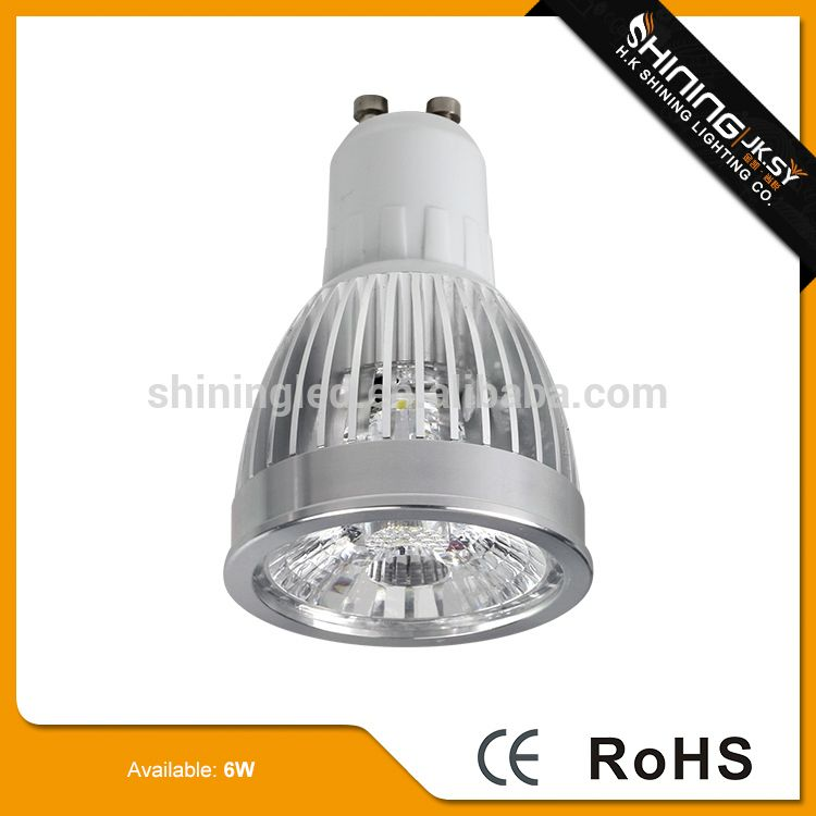 Energy saving aluminum 6w gu10 led spotlight