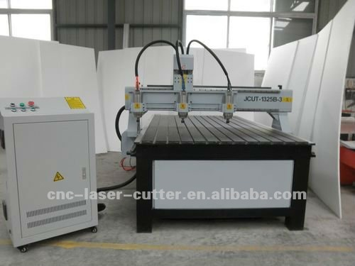 Solid Lathe Bed 3 Big Power Spindles Linear Guideway and Gear Driving Large 3D Wood CNC Engraving Machine JCUT-1325B-3