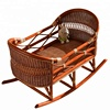 Hot Sale Natural Rattan Baby Rocking Crib Wicker Baby Bed Crib Baby Cradle