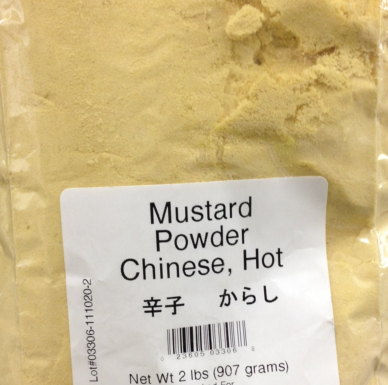 32oz Mustard Powder Chinese Hot (2 Pounds Total)