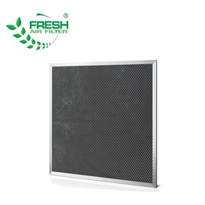 Odor removal activated carbon plank air filter cleaning machine for air conditioner