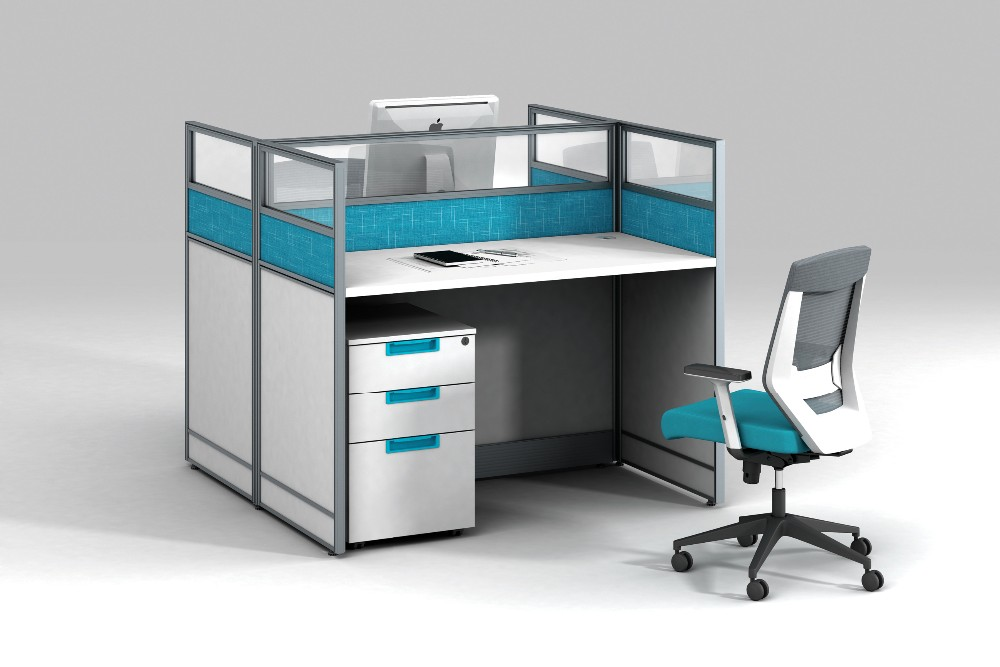 office desk dividers. blue white color used office partitions desk dividers for 4 person workstation