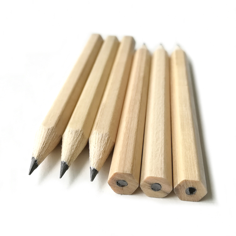 "3.5"" Mini Children Writing Natural Wooden HB Lead Pencil"
