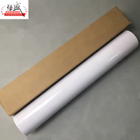 White release film pvc self adhesive cold lamination pvc film holographic