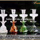 2019 hot selling colored al fakher glass hookahs shisha with leather box