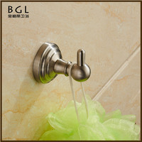 No.13135 New 2016 Bathroom Designs Stainless Steel Nickel Wall Mounted Bathroom Accessories Cloth Hook
