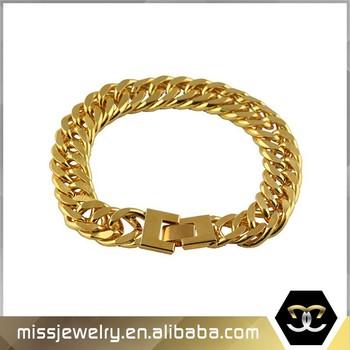 2016 Fashion New Cuban Link Tanishq Gold Bracelet Model