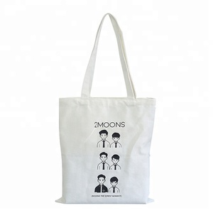 Fashion Canvas Handbag Unisex Tote Beach Cotton Bag with Printing Reusable shopping bag