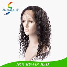 Human hair wigs deep wave natural black remy brazilian Invisible part wig front wigs lace baby hair