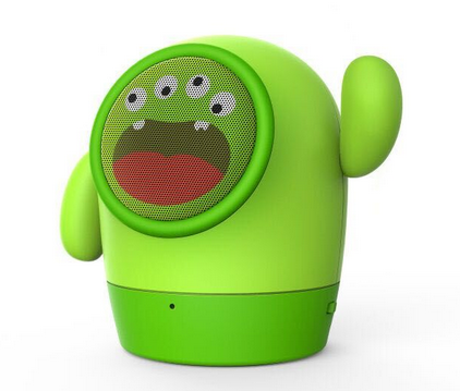 2016 Fashional portable wireless cute stand promotion 4 eyes green waterproof toy EL-M002 cartoon bluetooth speaker monster