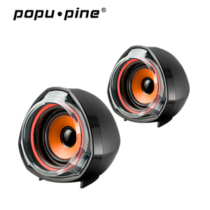 Popupine hot product usb loud 2.0 speaker wired mini laptop pc speaker