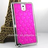 New Fashion Electroplating Edition Diamond Lattice Leather Cover Case For Samsung Galaxy Note 3 n9000