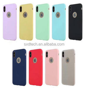 Ultra thin matte candy color rubber TPU soft silicone back cover case for iphone x TPU02