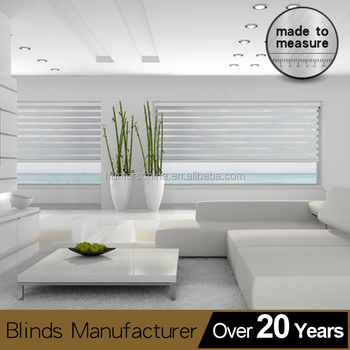 Zebra dual roller shades Vertical Pattern and Roman Style vertical shade