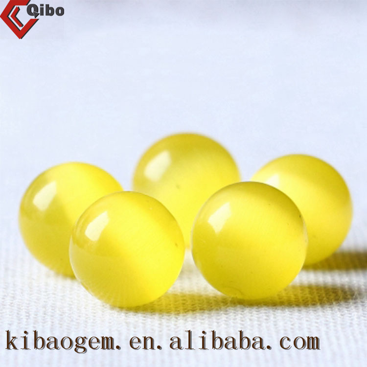 AAA quality shining yellow cats eye stone bead for jewelry