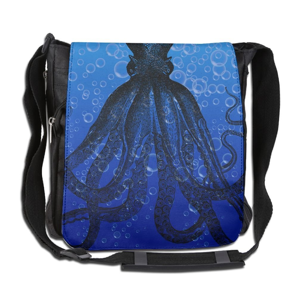 ae43b2bd0ad Get Quotations · Unisex Narrow Diagonal Shoulder Bag Bubbles Octopus  Printed Casual Messenger Travel Crossbody Bag Adjustable Shoulder Tote