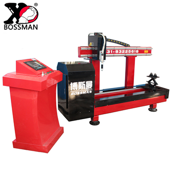 3 axis small cnc plasma cutting machine for processing stainless steel circle pipe