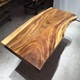 Luxury style top grade suar teak wood solid slab dining table top