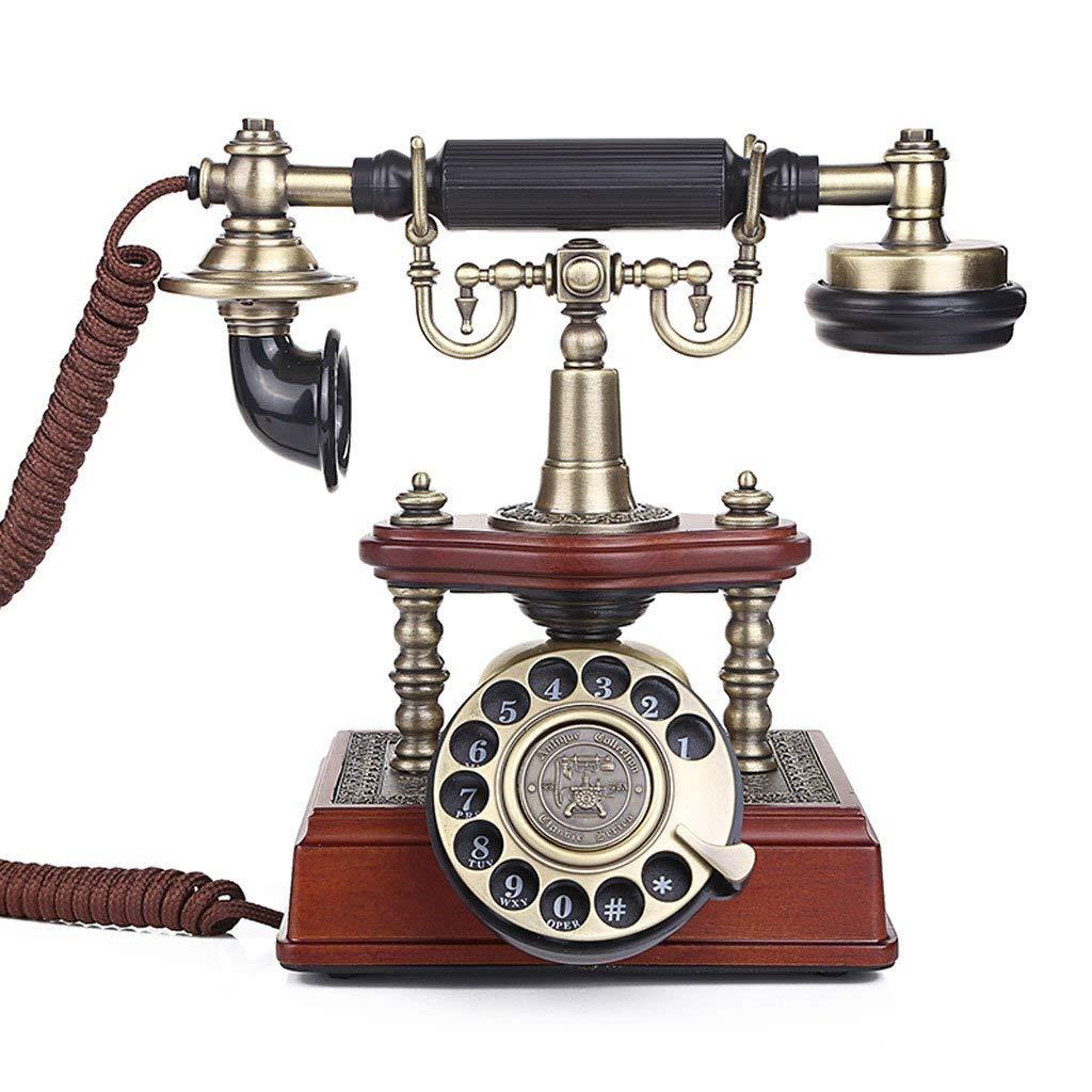 WXL Phone Continental Style Rope Fixed Landline Home Office Creative Retro Phone Landline (Size : L246MMW126MMH228MM)