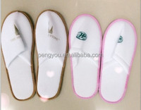 New design fashion style fleece disposable hotel slippers