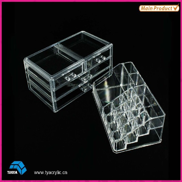 2016 Alibaba Express Acrylic Makeup Sets, New Products Innovative Products, Acrylic Case for Makeup, Cosmetic Make Up Holder