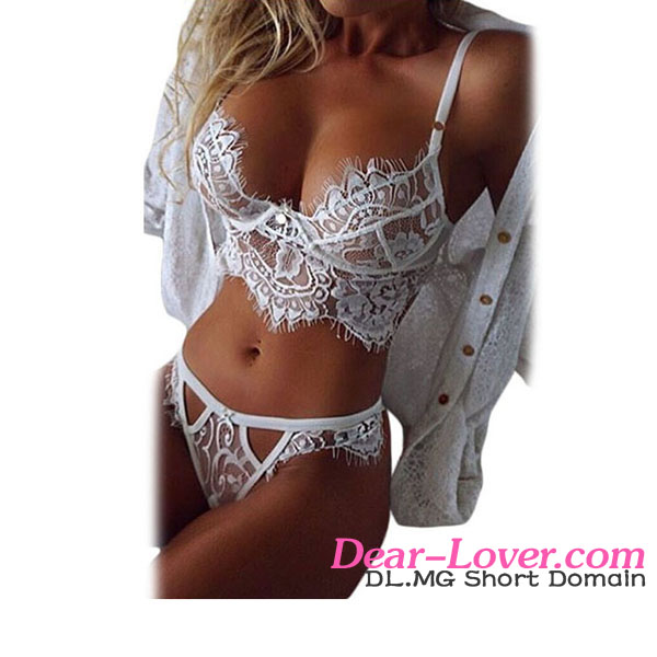d8e2c1fdf4 2016 Hot White Lace Two Piece Bralette Sexy Mature Womens Lingerie Sets