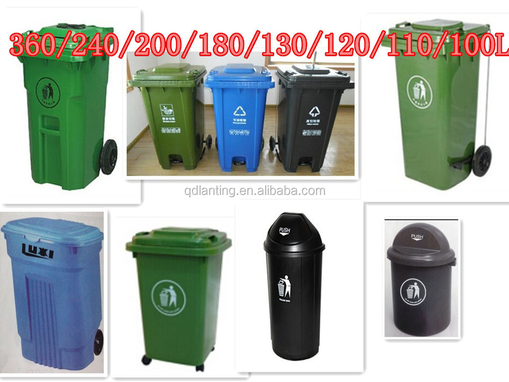 1100l Innovative Recyclable 4 Wheel Waste Bin For Factory