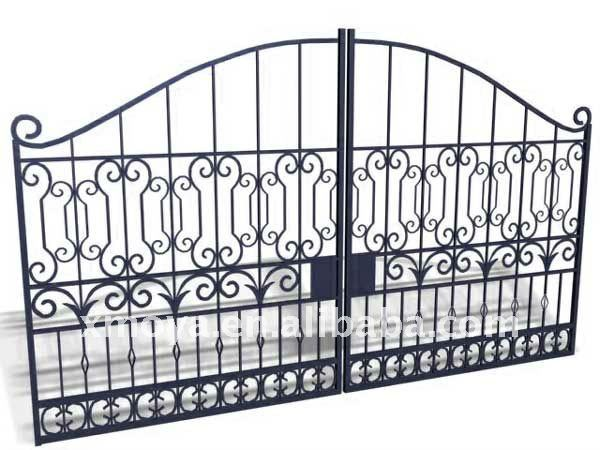 Security modern iron gate