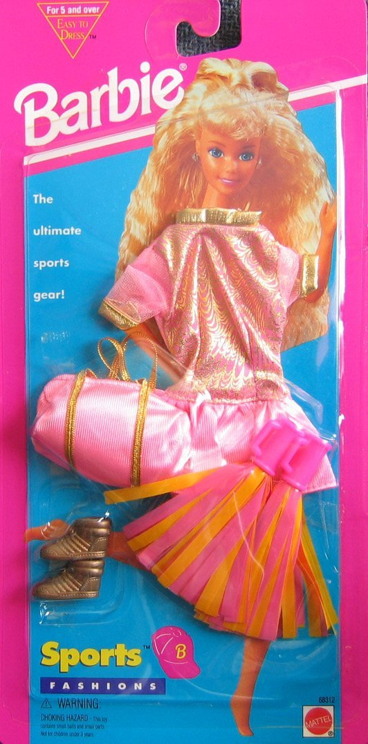Barbie Sports Fashions CHEER LEADER Easy To Dress Set (1995 Arcotoys, Mattel)