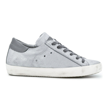 Fashion gray lace-up suede women shoes big size sneakers
