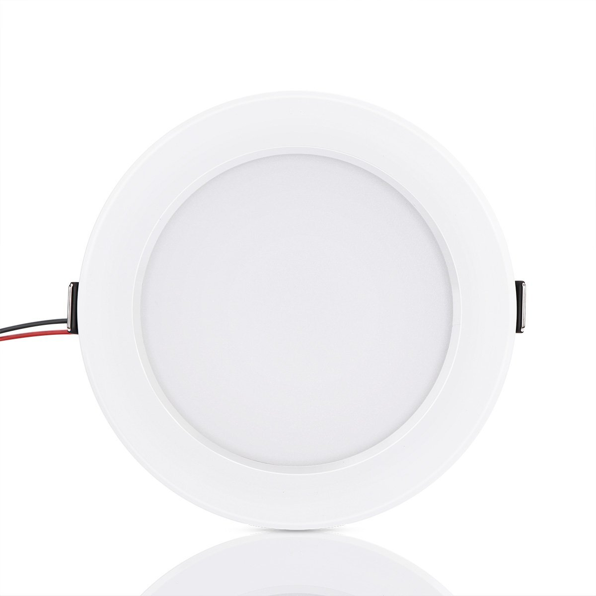 Round RGB LED Panel Light Concealed Recessed Ceiling Lamp Downlight 10W with Remote Control AC 85-265V