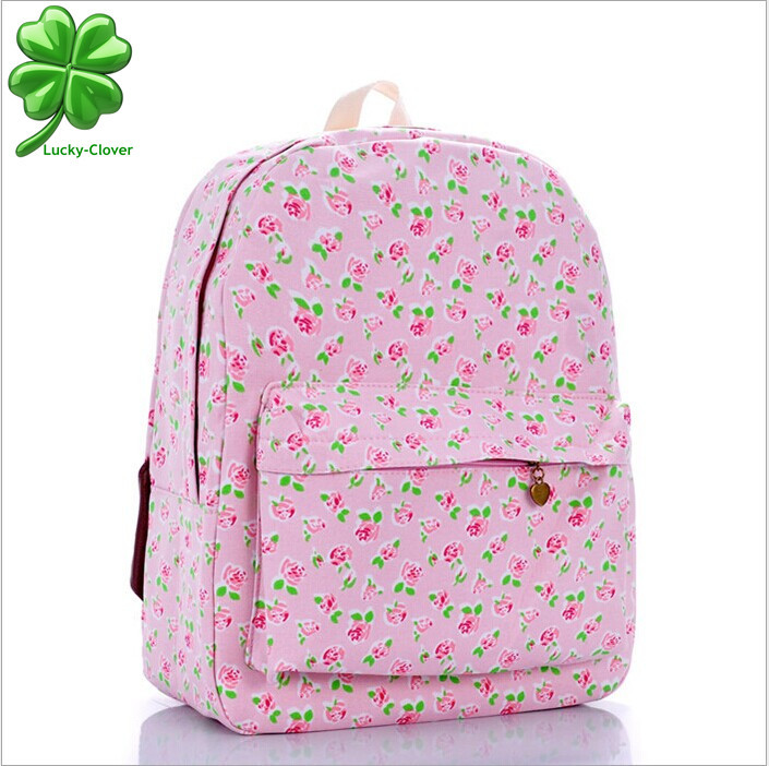 b617990142 Buy Preppy women Pink Rose flower smaller ditsy printing backpack school  college book bag for girls outdoor travel backpacks mochila in Cheap Price  on ...