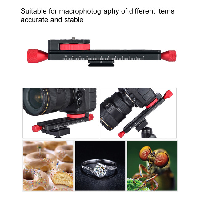 Macro Focusing Rail Slider Close-up Shooting Tripod Head Quick Release Plate Holder
