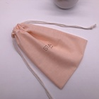 Packaging Customization [ Bag ] Light Pink Drawstring Cotton Bag Pouch With Printing