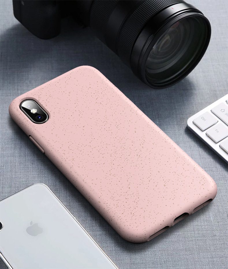 Magro TPU Recicláveis Eco Friendly Biodegradável Mobile Phone Caso Bumper Natural Case para Iphone 6 7 8 x xr xs