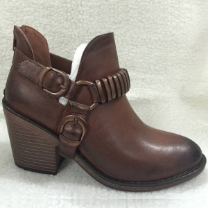 High quality cheapest wholesale classy style ankle boots women shoes