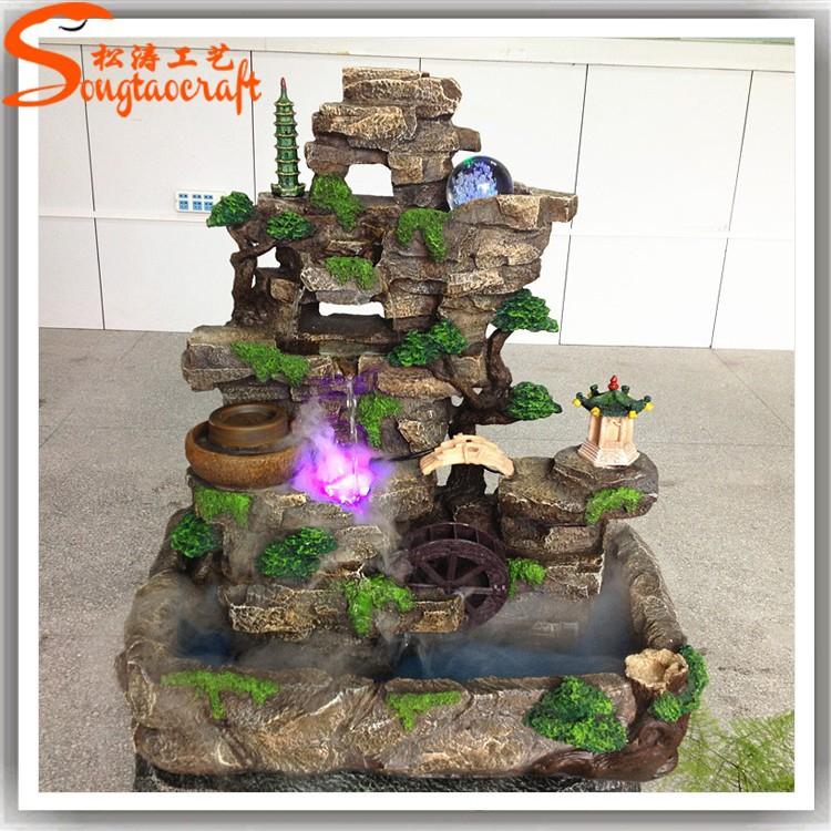 Cachoeira decora o de fibra de vidro cachoeiras artificiais rock para piscinas fontes de gua - Fuentes para jardin caseras ...