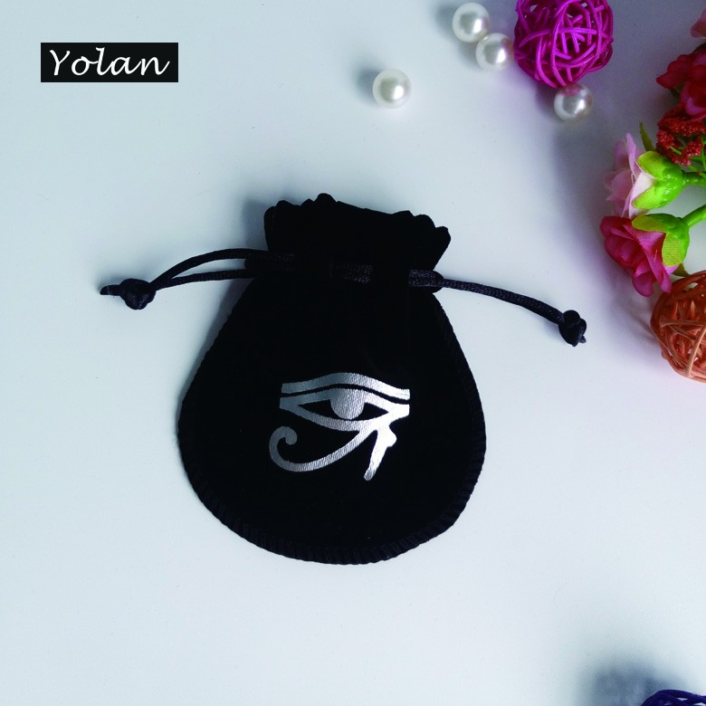 velvet promotional bag with brand name
