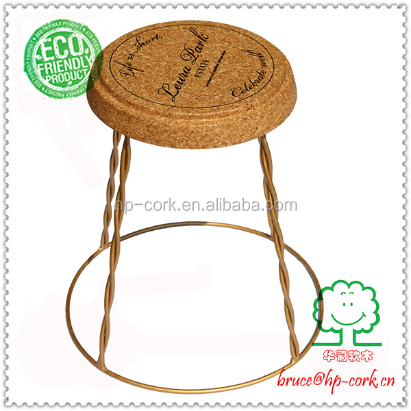 Champagne Cork Table With Wire View Coffee