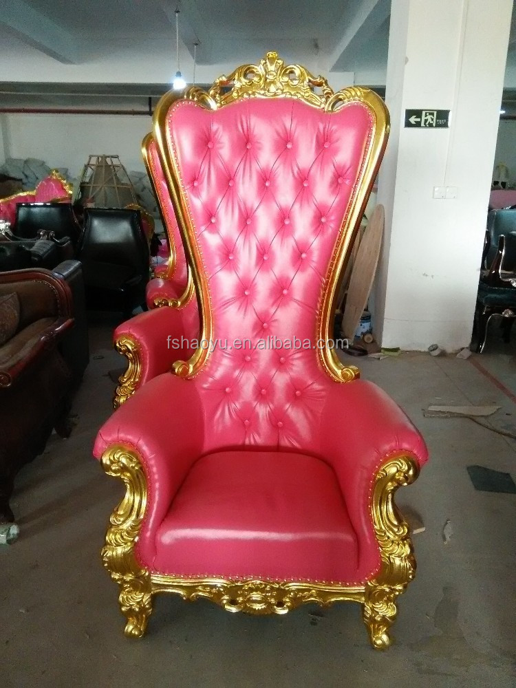 rose chaise tr ne roi royale fauteuil bergere en pu chaise de barcelone en cuir chaises. Black Bedroom Furniture Sets. Home Design Ideas