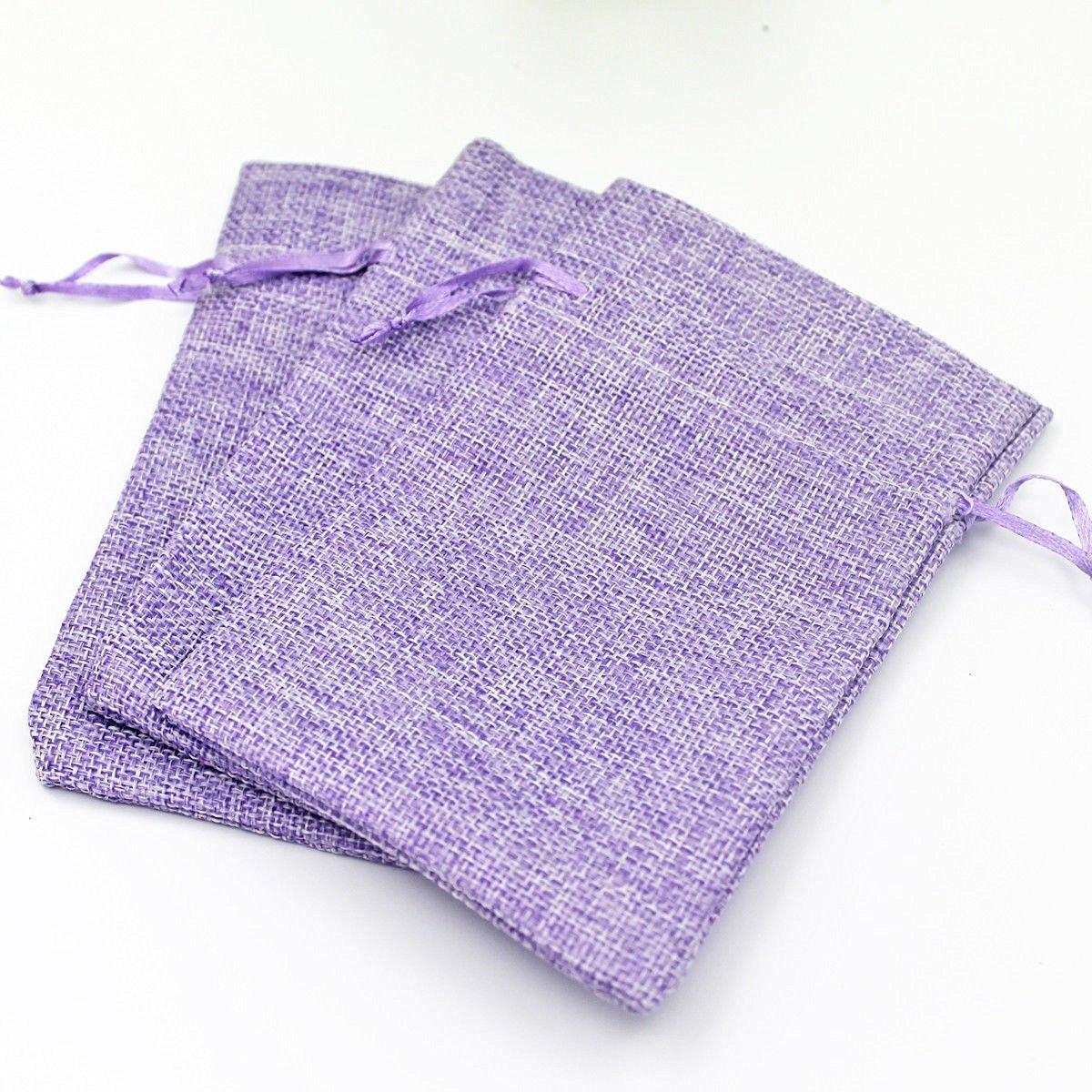 Bingirl 9x12cm 10x15cm Burlap Bags Jewelry Pouches Wedding Favor Christmas Gift Bags 10x15cm 25
