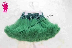 Fashion Baby Girls Chiffon Fluffy Pettiskirts Tutu Princess Party Skirts Ballet Dance Wear Pettiskir Kids Green puffy pettiskirt